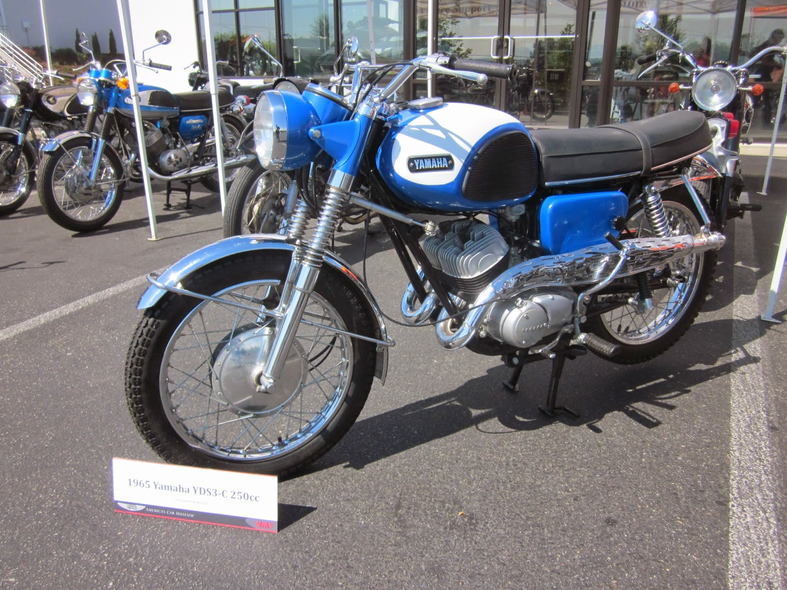 oldmotodude: 1965 yamaha yds3-c 250 on display at the 2014 vjmc
