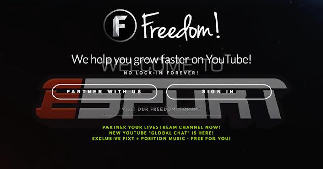 Hướng dẫn đăng ký network youtube freedom