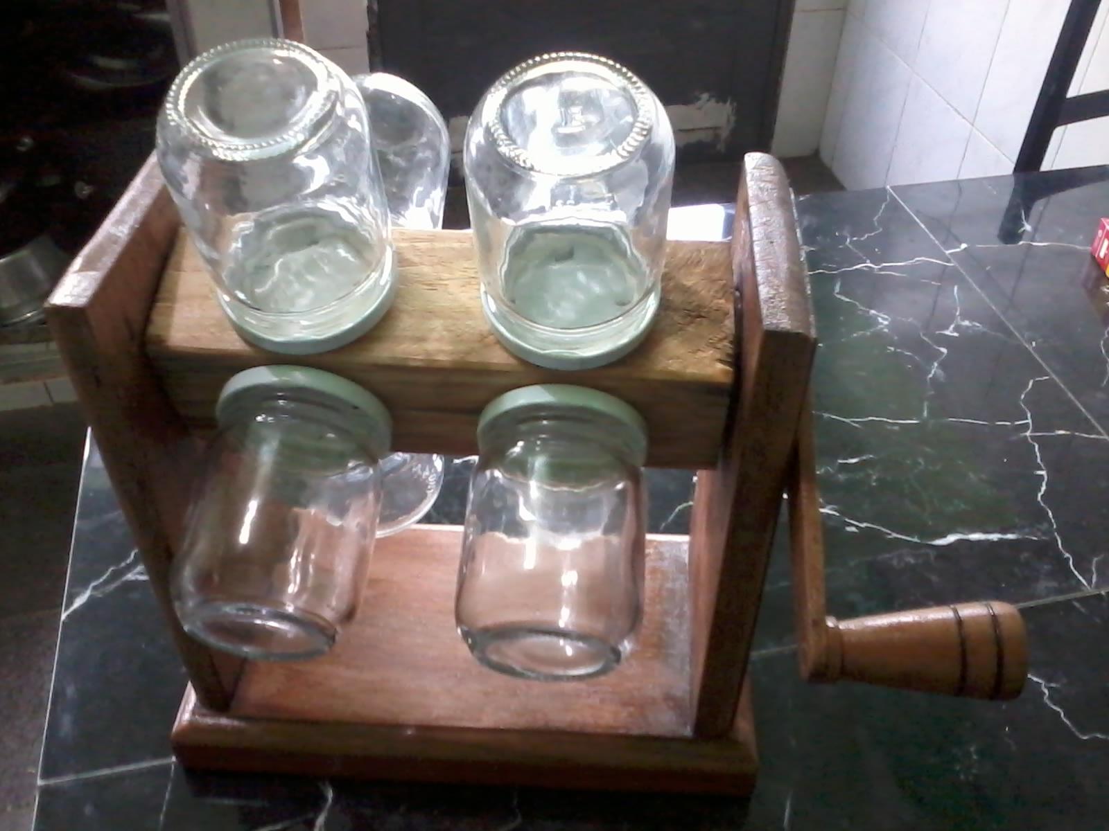 Ideias em madeira porta condimentos girat rio outra vez for O que e porta condimentos
