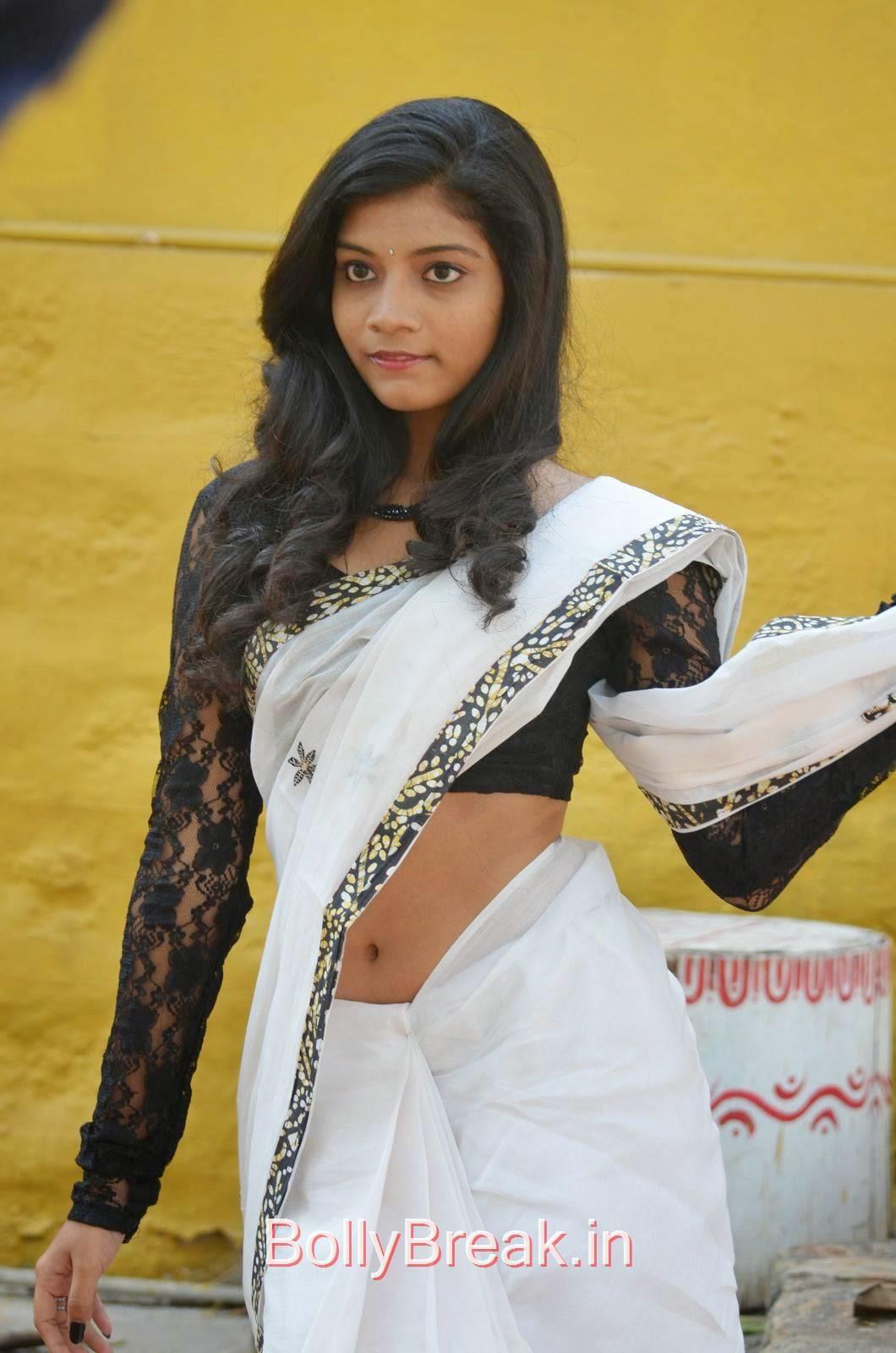 Bindu Unseen Stills, Bindhu Latest Hot Pics In White Saree