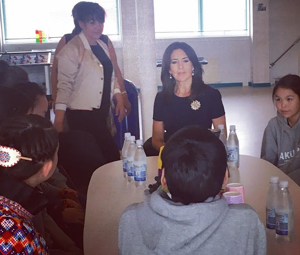 Crown Princess Mary of Denmark met with members of Children's Council (NAKUUSAs ) and Blue Cross