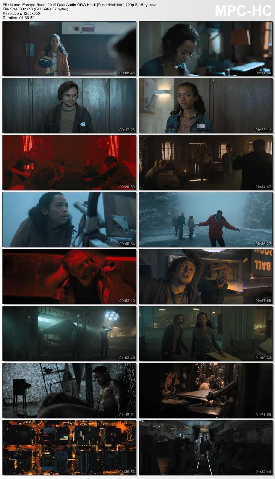 Escape Room 2019 Dual Audio ORG Hindi 480p BluRay 300MB Desirehub