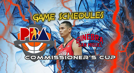 List of Brgy. Ginebra San Miguel Game Schedules 2017 PBA Commissioner's Cup