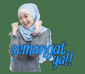 Sticker WhatsApp Hijaber Cantik