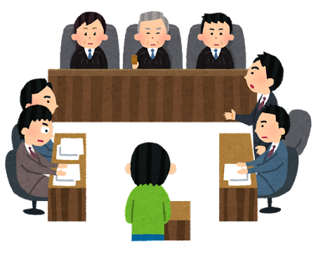 裁判のイラスト(木槌あり・シンプル)