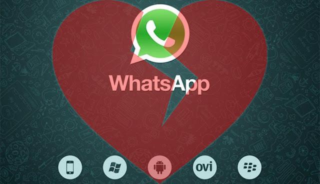 Whatsapp logo corazon roto