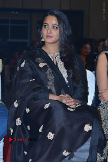 Actress Anushka Anushka Shetty Stills in Black Salwar Kameez at Om Namo Venkatesaya Audio Launch Event  0022.JPG