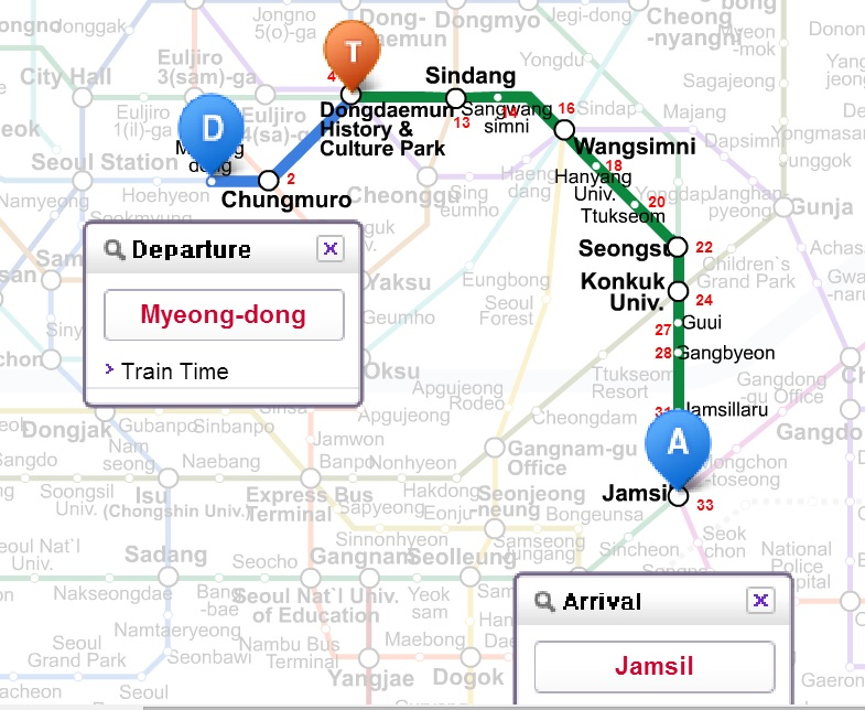 Seoul Station Subway Map.How To Get To Lotte World From Myeongdong Seoul