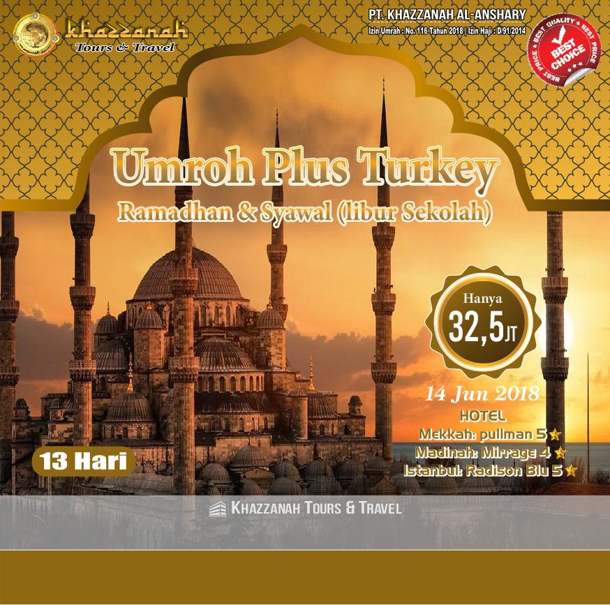 Paket umroh Plus Turki Ramadhan