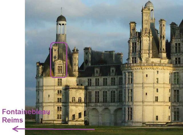 Un alignement de monuments à partir de Chambord.