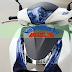 Sơn chóa đèn màu xanh Pepsi cực đẹp cho xe máy