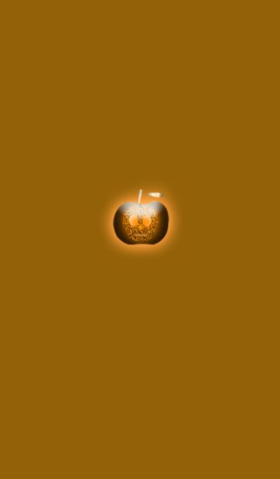 Orange skull apple