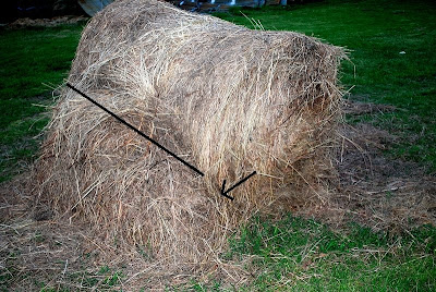 How to feed a round bale to reduce waste