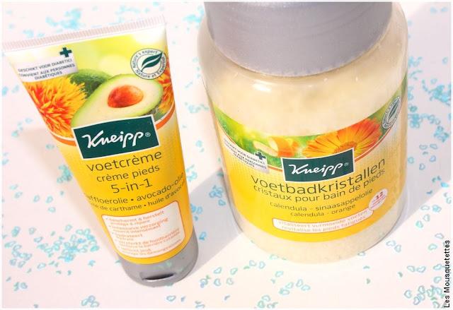 Kneipp la crème pieds 5 en 1 et les cristaux pour bain de pieds - Favoris blog beauté