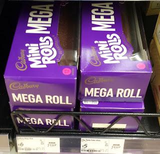 Cadbury Mini Rolls Birthday Cake