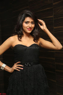 Shalu Chourasiya in spicy Sleeveless Strapless Black Top at O Pilla Nee Valla Movie Audio Launch Feb 2017 098.JPG