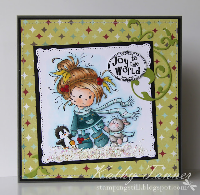 Winter Friends, Whimsy Stamps, Sylvia Zet, Wee Stamps, Christmas Card, copics