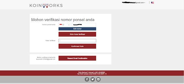 Cara Verifikasi akun di situs Koinworks