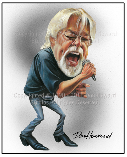 Bob Seger Celebrity Caricature Print by Don Howard