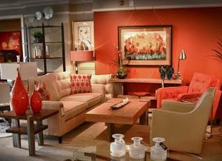 sala paredes naranjas