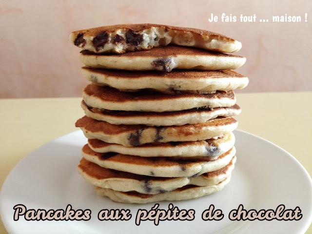 Pancakes aux pépites de chocolat noir