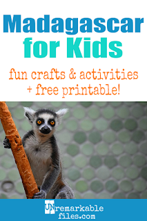 Teach your kids all about the geography and culture of Madagascar! Free educational Madagascar crafts, printables, and fun videos all about Madagascar culture, food, language, and of course, lemurs. #madagascar #educational #aroundtheworld #geography