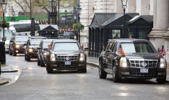 1 Photos: President Obama used 3 helicopters, a vast motorcade and a modified jumbo jet to come to UK