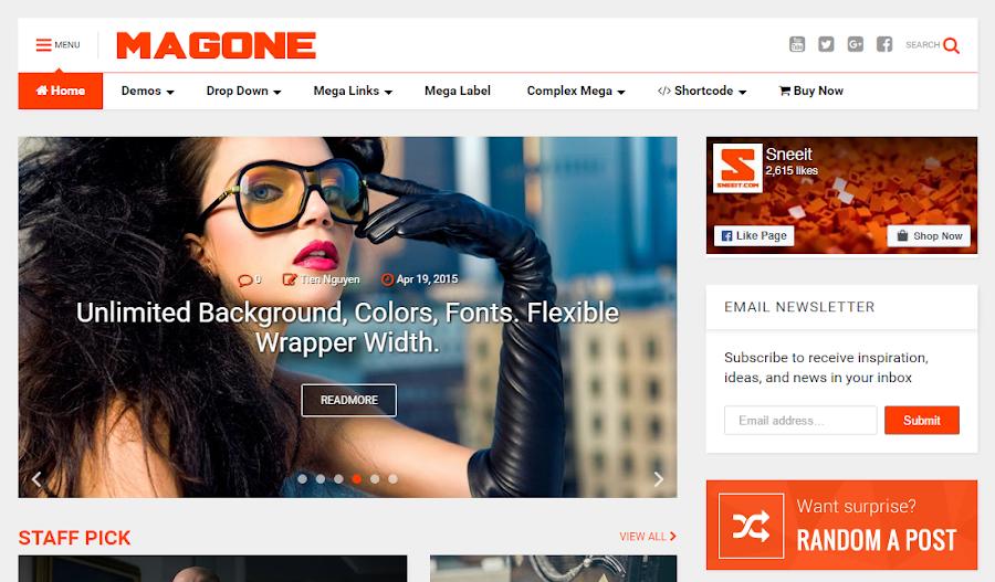 Chia sẻ Template MagOne v6.6.3 bản quyền miễn phí