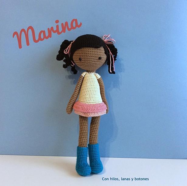 Con hilos, lanas y botones: Marina (patrón La crochetería)