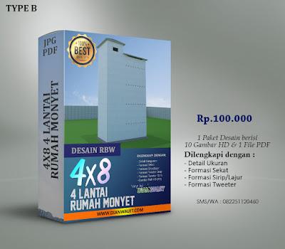 Desain Rumah Burung Walet 4X8 4 Lantai Premium