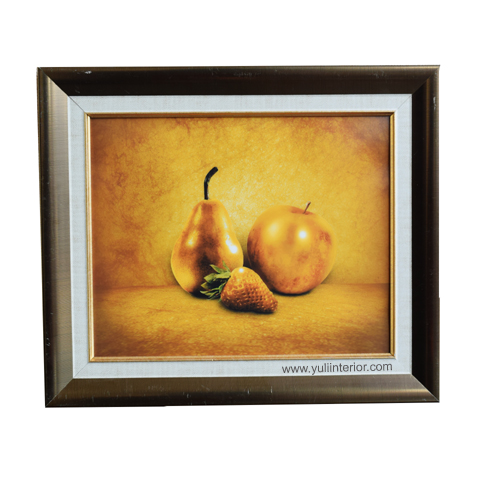 Gold Fruits Wall Frame