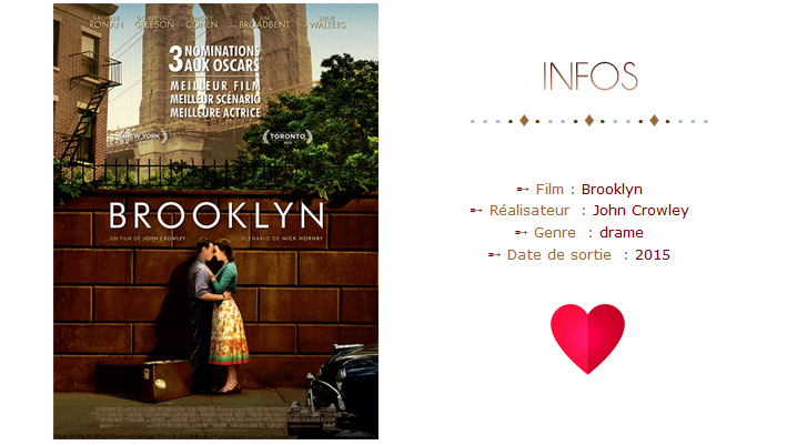 Infos sur le Film Brooklyn et affiche du film