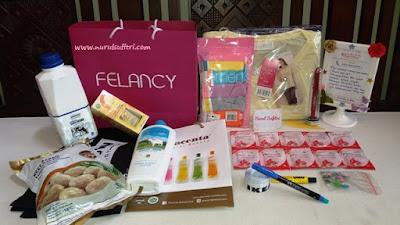 tanda mata goody bag dari felancy pakaian dalam mom beauty blogger gathering nurul sufitri