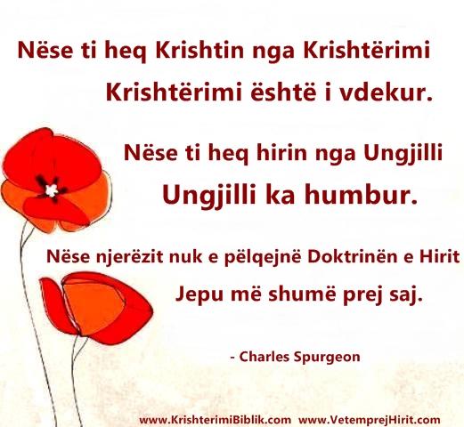 Krishti, Krishterimi, spurgeon shqip, sperxhen,