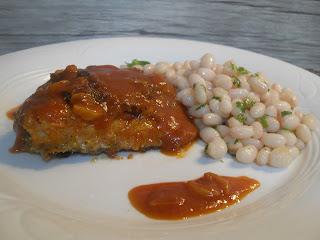 Receta de bacalao con costra y Fesols de Santa Pau.