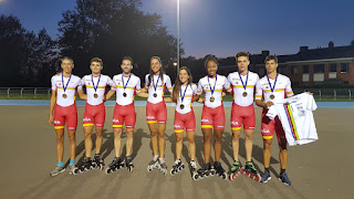 PATINAJE DE VELOCIDAD - España acumuló 38 medallas en el Europeo de velocidad en línea
