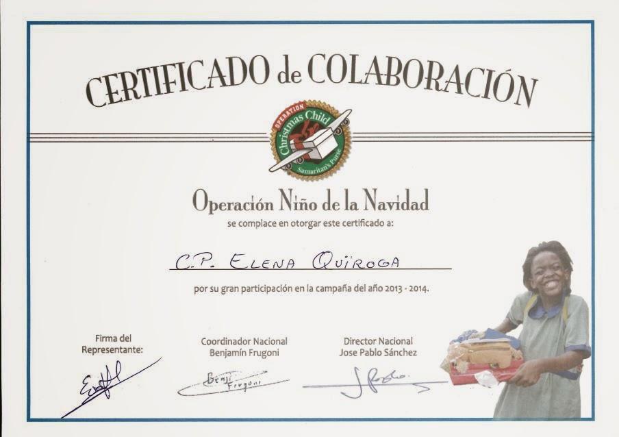 Certificado De Agradecimiento Colaboracion Y Cristianos