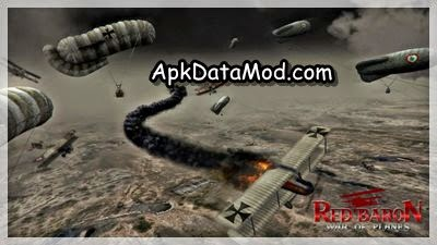 Red Baron War of Planes Apk smoking crash