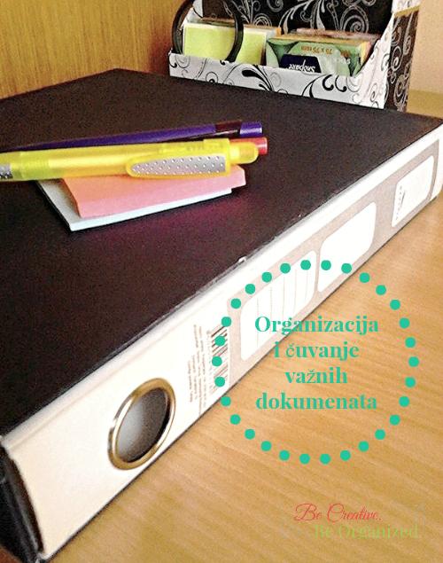 Organizacija i čuvanje važnih dokumenata