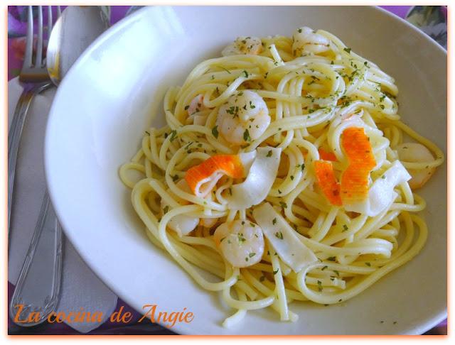 Espaguetis Con Gambas Al Ajillo Olla Gm