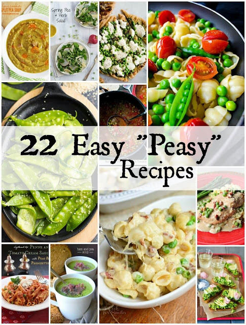 "22 Easy ""Peasy"" Recipes from www.bobbiskozykitchen.com"