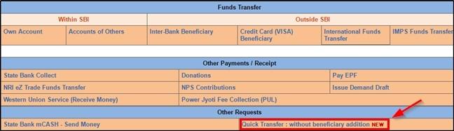 Quick money transfer pe click kare