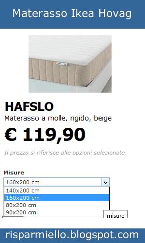 Risparmiello Materassi a molle Ikea prezzi opinioni e