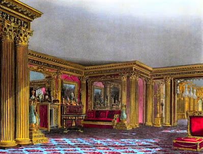 Golden Drawing Room, Carlton House, from The History of the Royal Residences by WH Pyne (1819)