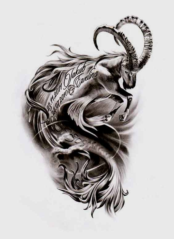 Best capricorn tattoos designs and ideas