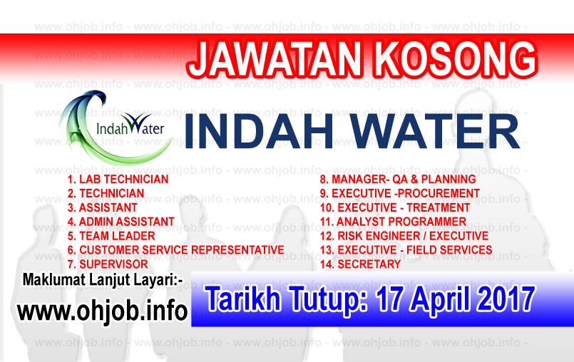 Jawatan Kerja Kosong IWK - Indah Water Konsortium logo www.ohjob.info april 2017