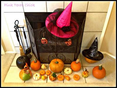 My Halloween & Fall Mantel