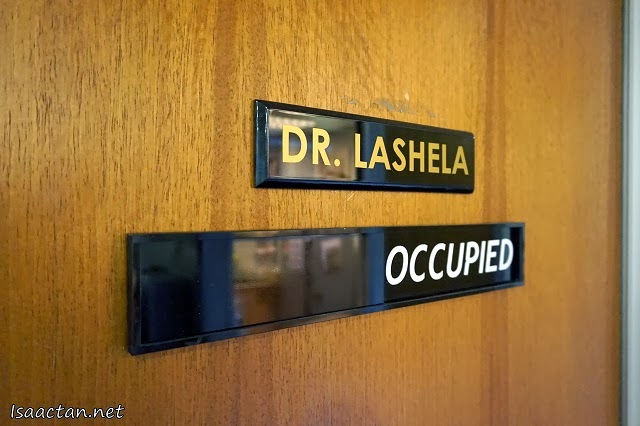 My doctor for the day, Dr Lashela