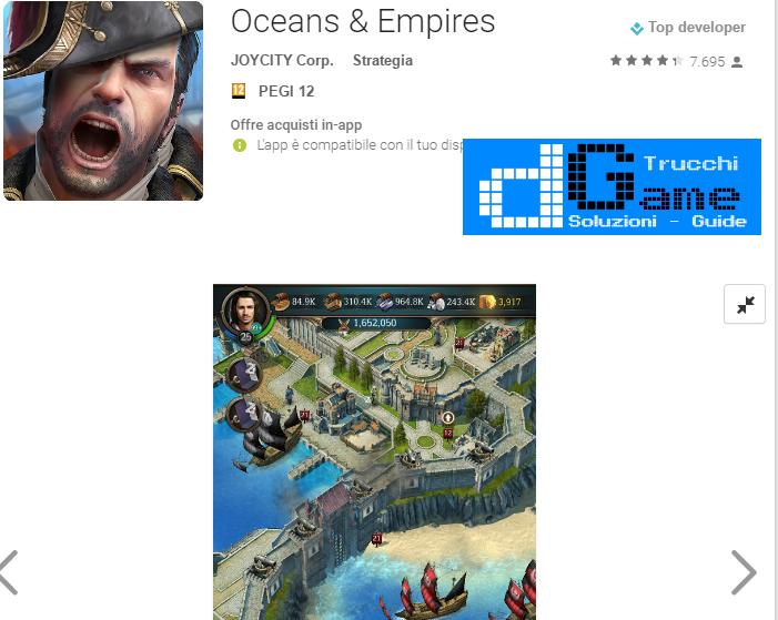 Trucchi Oceans & Empires Mod Apk Android v1.1.3