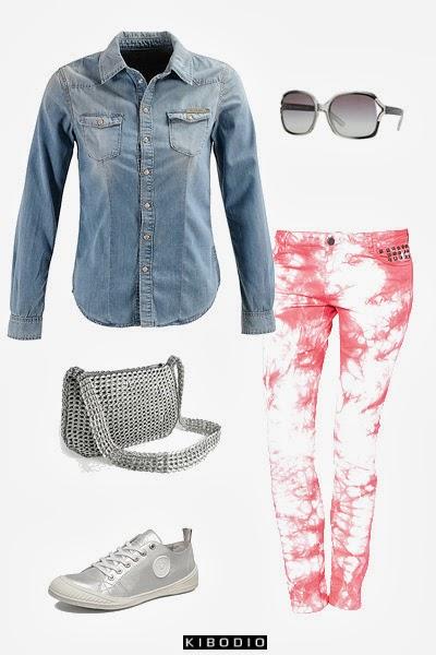 Chemise en jean : look 2